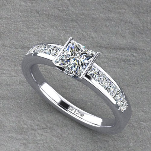 18ct White Gold Princess Cut Diamond Ring Lester and Brown Jewellers