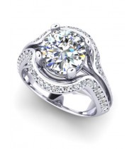 Bespoke platinum diamond ring with 1.5 carat certificated diamond