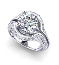 Bespoke platinum diamond ring with 1.5 carat certificated diamond