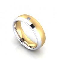 2 Colour Gold Diamond Set Wedding Ring Ref No Lbw2