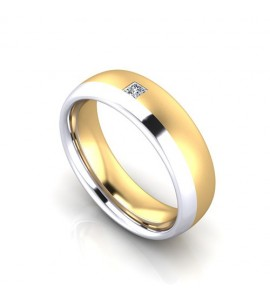 2 Colour Gold Diamond Set Wedding Ring Ref No Lbw2 Lester And Brown Jewellers