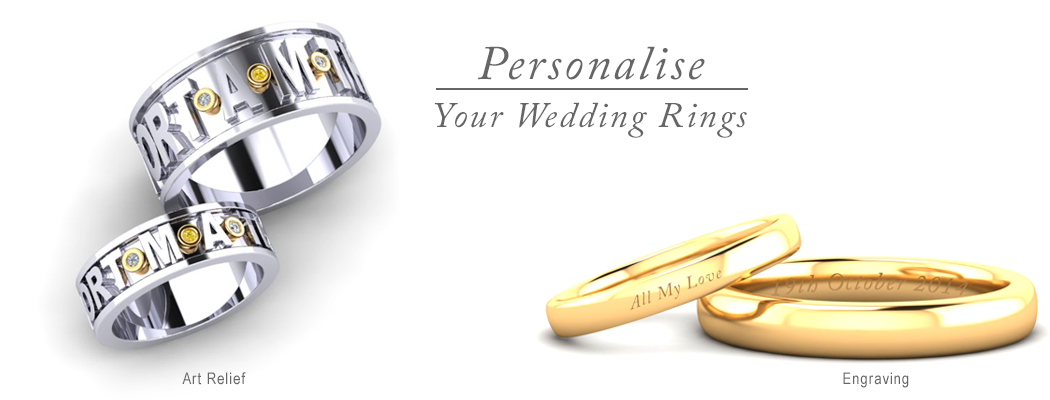 Personalised wedding rings and bands