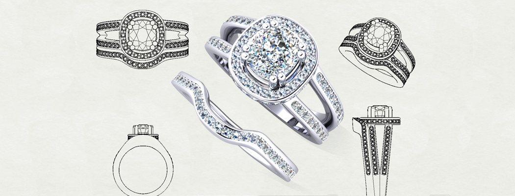 shapped wedding rings